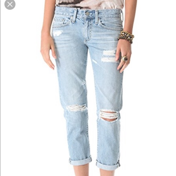 Ag Adriano Goldschmied Denim - AG Piper Slouchy Slim Crop Destroyed Jeans